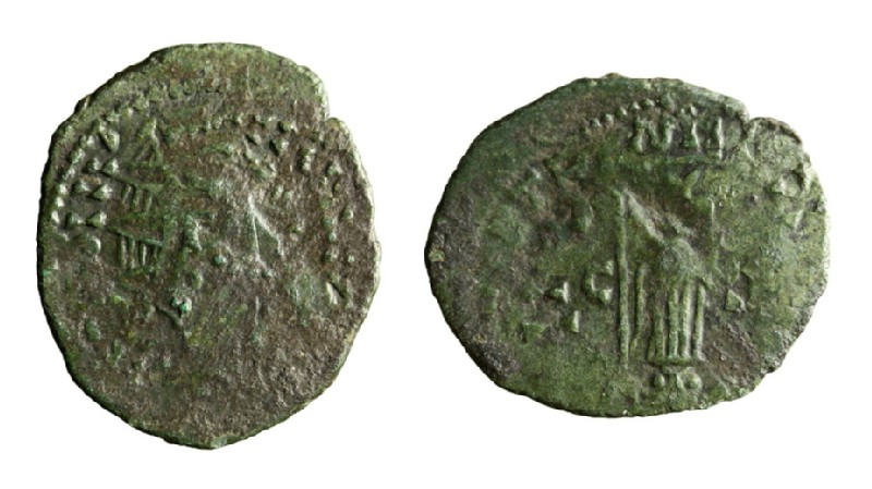Medieval coin (HCR3666, record shot)