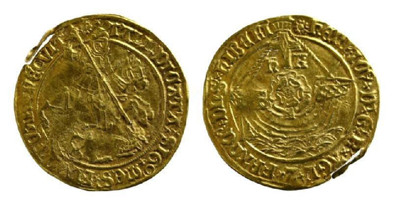 English gold coin (HCR8153, record shot)