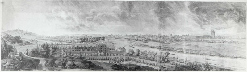 Panoramic View of Paris from the Heights of Chaillot with Montmartre on the left and the Invalides on the right (WA.Suth.L.3.100, record shot)