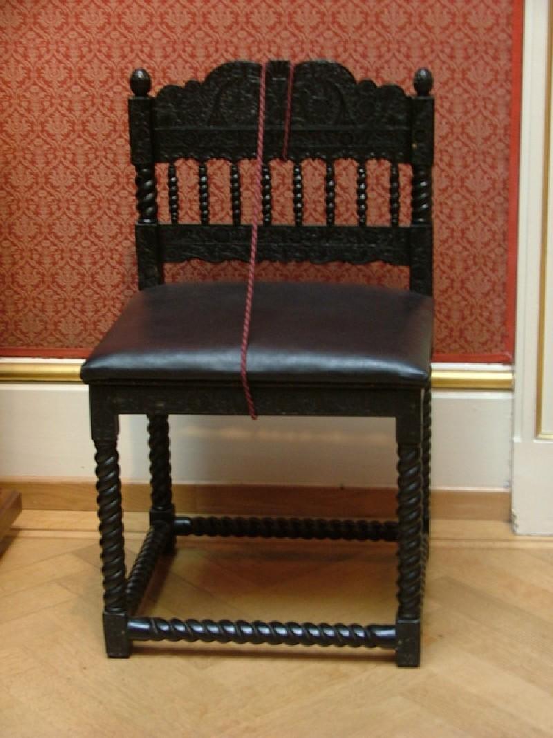Ebony side chair (WA.OA181, record shot)