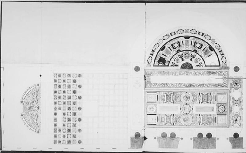 Survey plan of a pavement (WA.OA345, record shot)