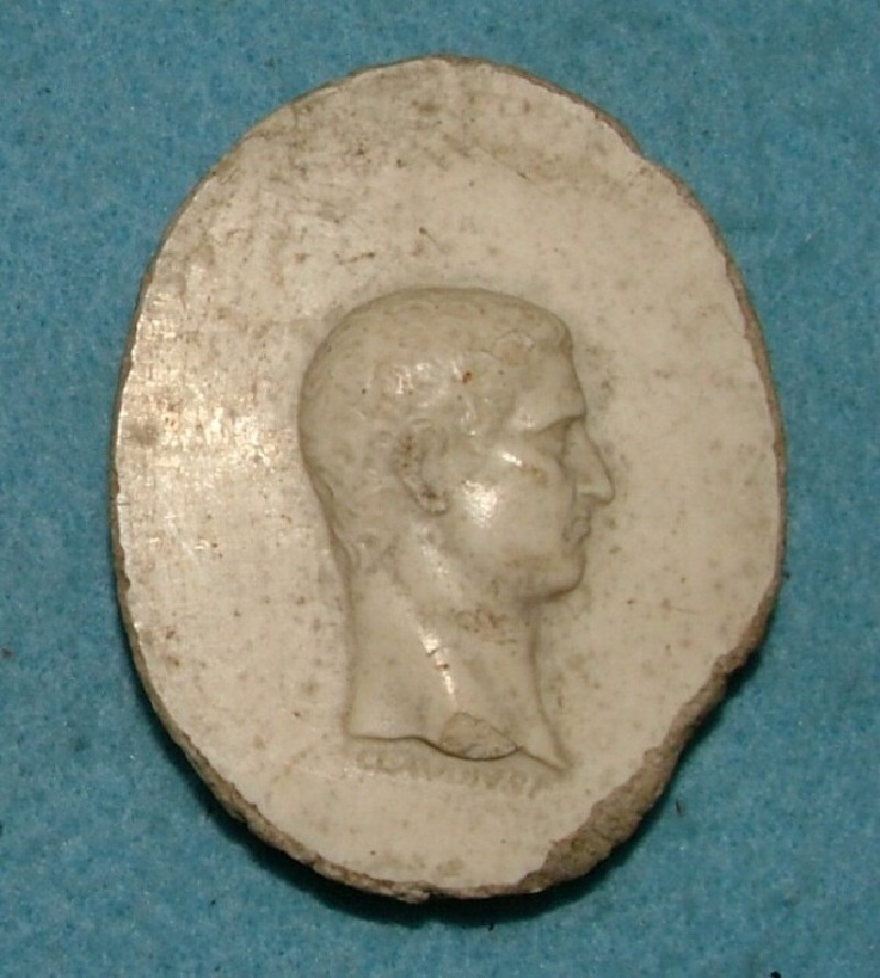Profile medallion head of the Emperor Claudius (WA.OA540, record shot)