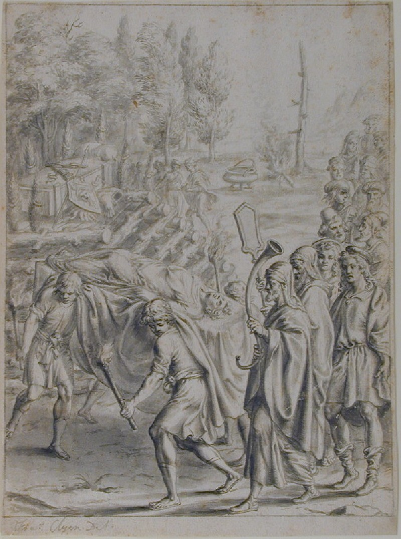 The Funeral of Misenus (A design for Virgil's 'Aeneid', Book VI) (WA1863.1003, record shot)