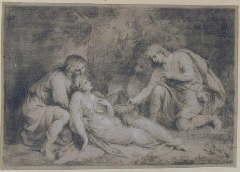 Dorinda wounded by Silvio (WA1863.1191, record shot)