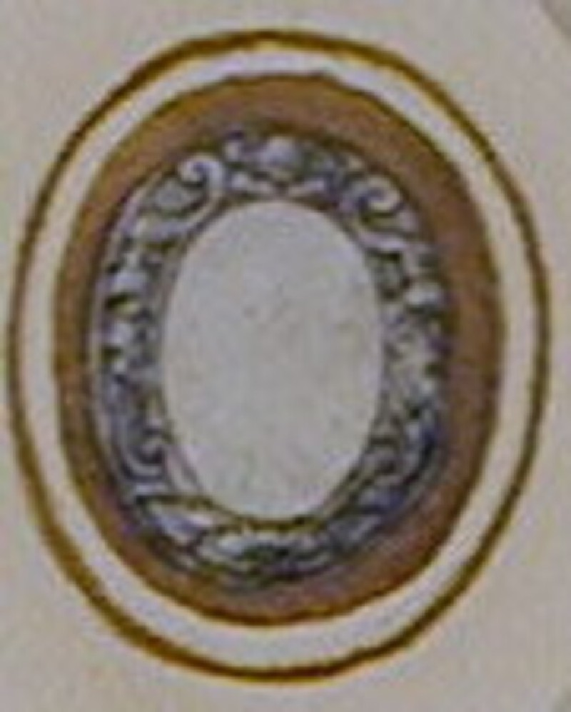 Design for a badge or dress ornament: An oval frame (WA1863.133.334, record shot)