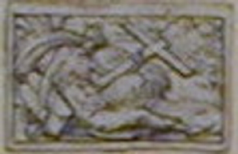 A design for an allegorical figure in a small rectangle: A woman reclining on a bank (WA1863.133.467, record shot)