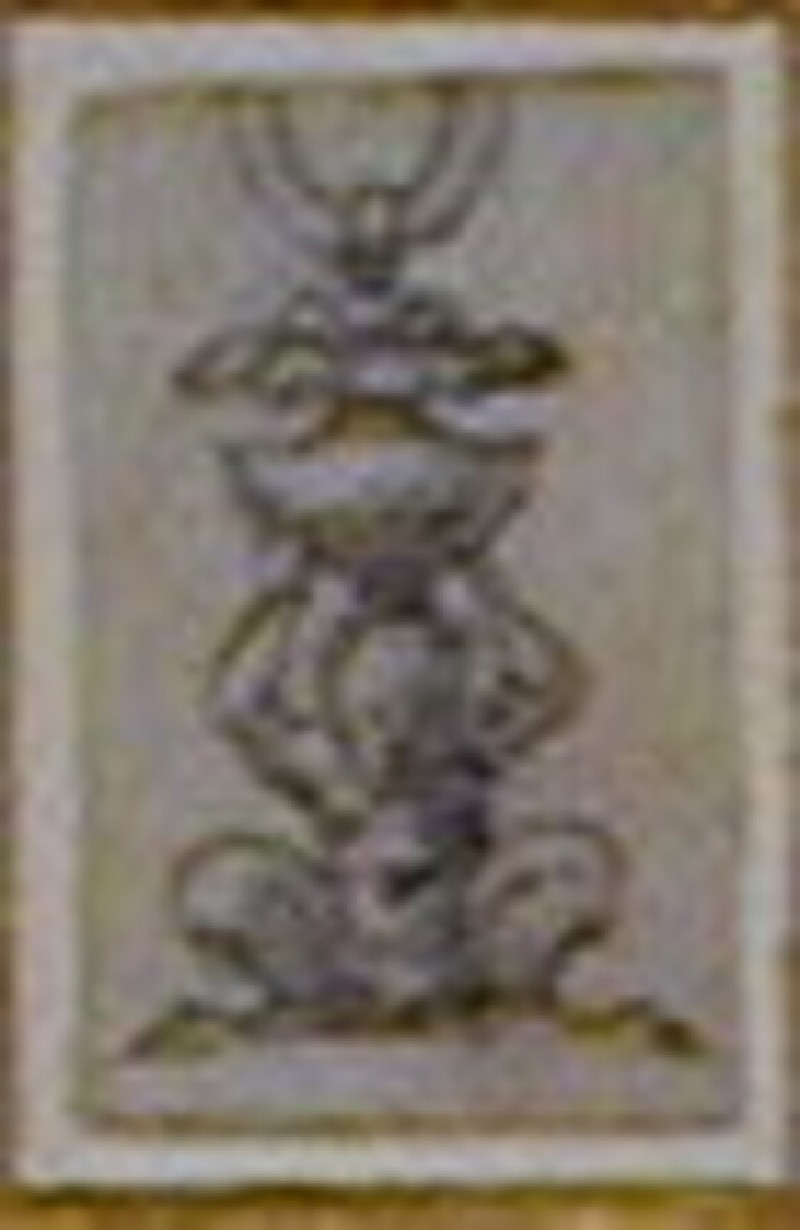 Design for a finial in the form of a crouching satyr (WA1863.133.474, record shot)