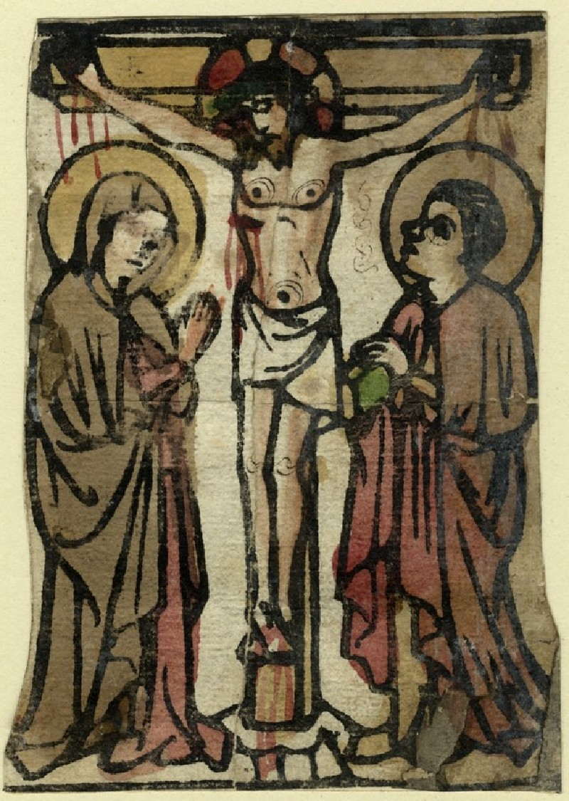 Christ on the Cross, between the blessed Virgin Mary and Saint John (WA1863.1873, record shot)