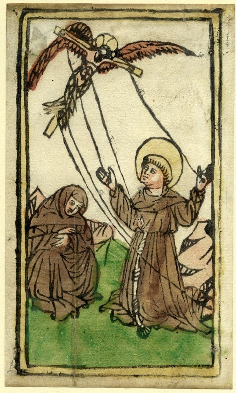 Saint Francis receiving the stigmata (WA1863.1875, record shot)