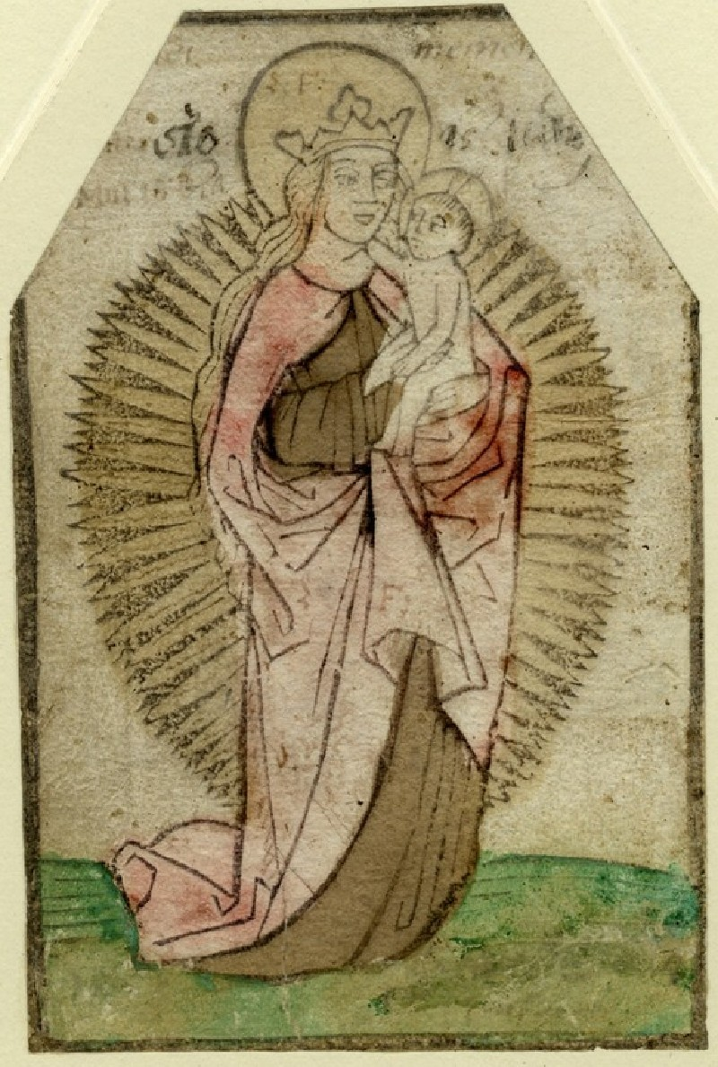 The Virgin and Child in a Halo of Rays (WA1863.1881, record shot)