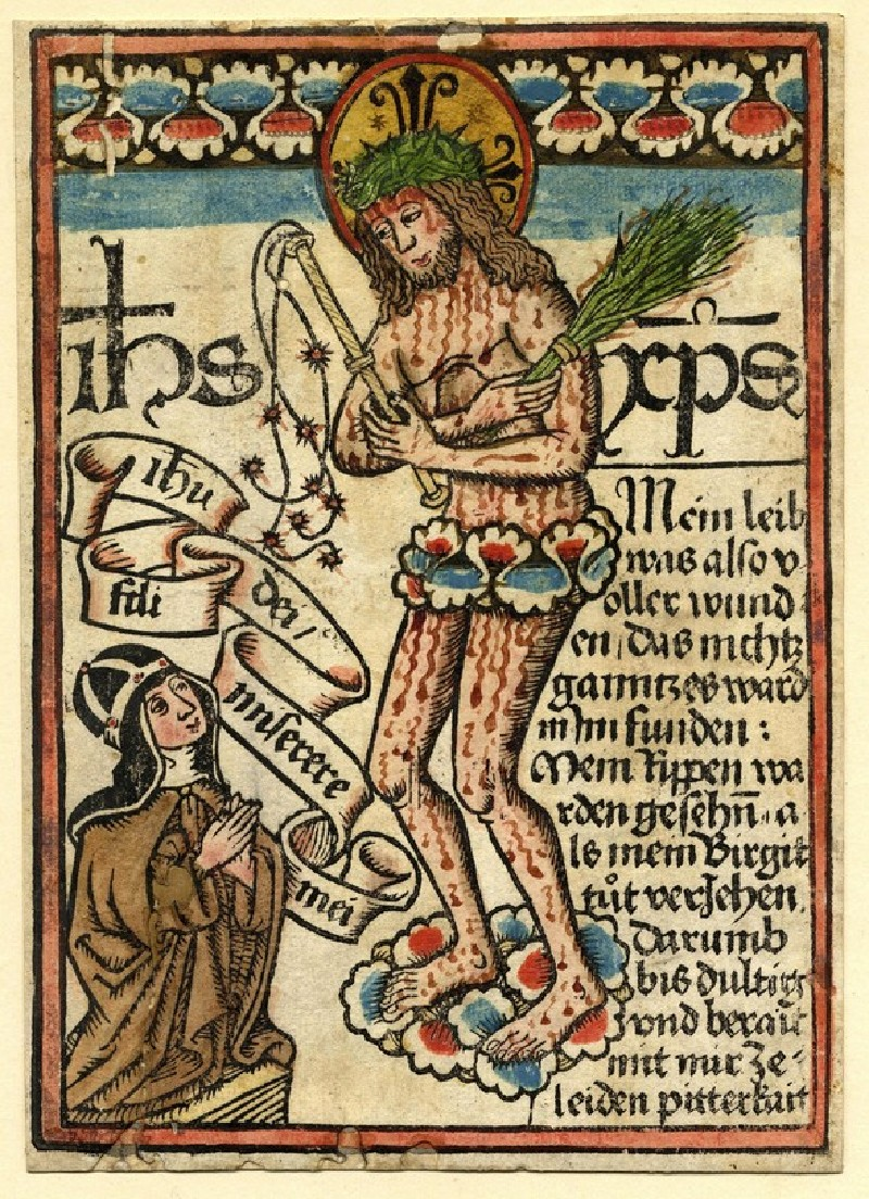 Saint Bridget and the Man of Sorrow (WA1863.1890, record shot)