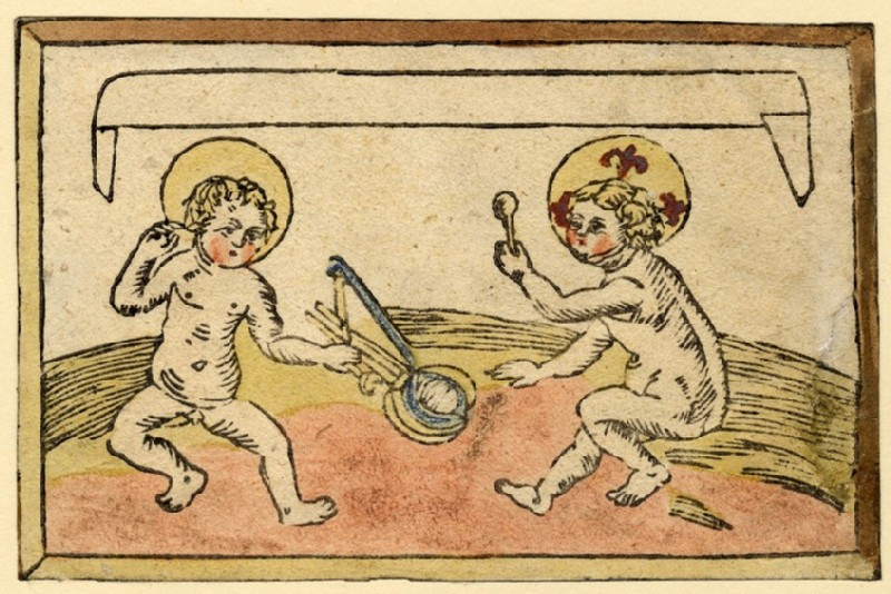 The infant Christ and Saint John the Baptist at play