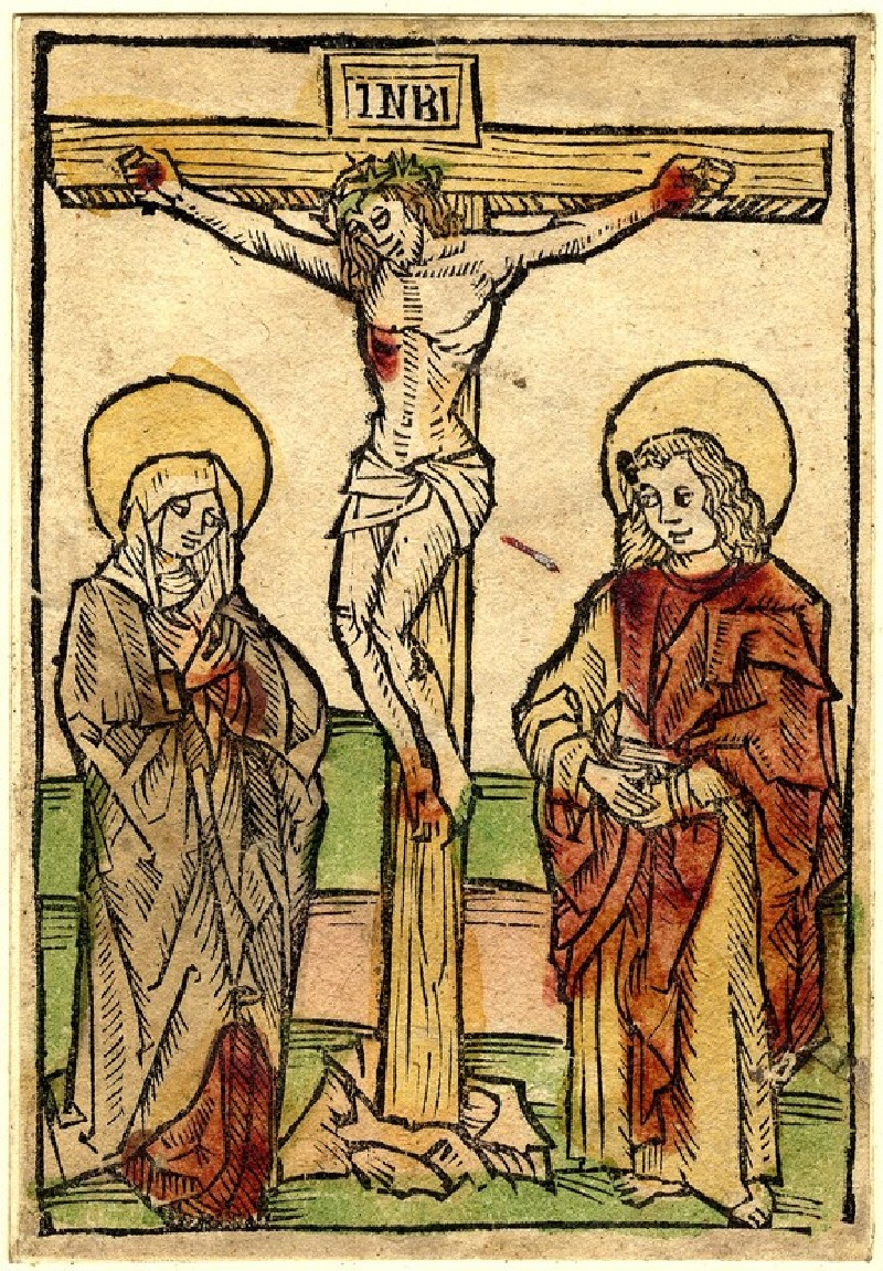 Christ on the Cross, between the Virgin Mary and Saint John