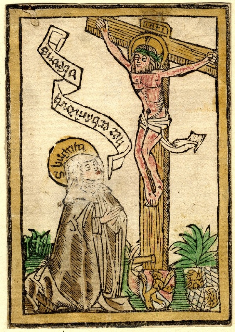 Crucifixion with St Bridget (WA1943.57, record shot)