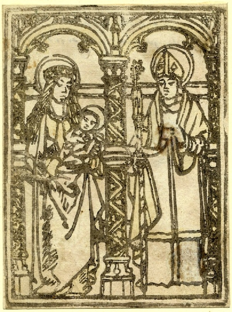The Virgin and Child with a Saint (WA1863.1916, record shot)