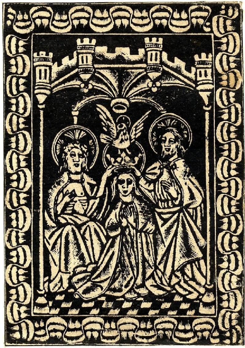 The coronation of the Virgin (WA1863.1953, record shot)