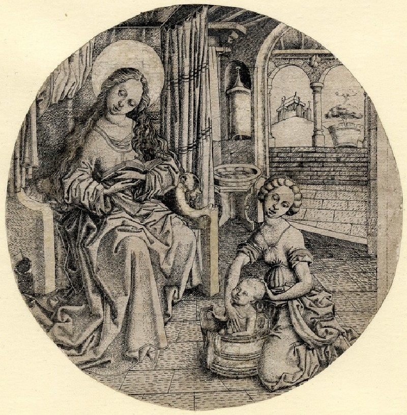 The Virgin with the bathing Christ Child