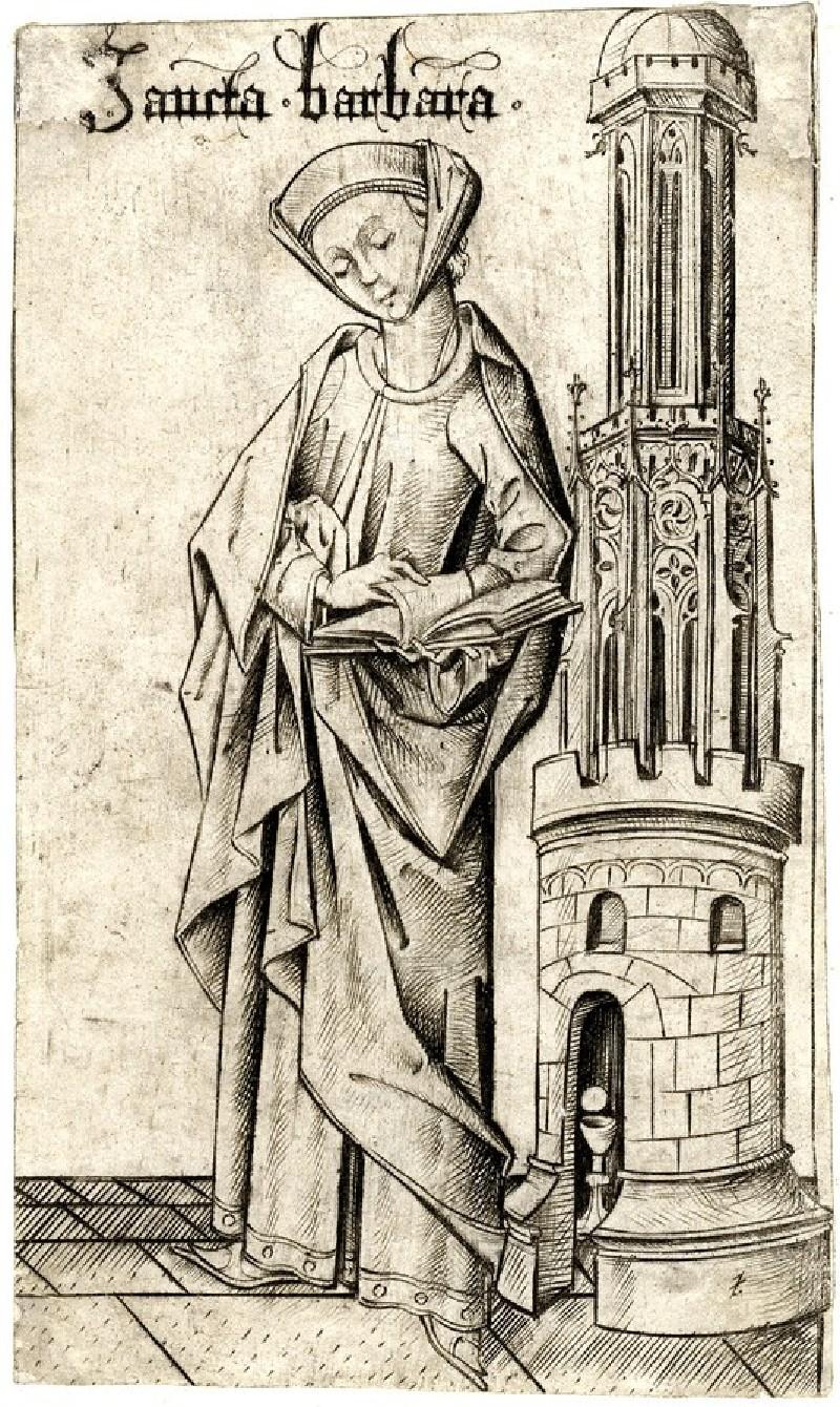 St Barbara (WA1863.2054, record shot)