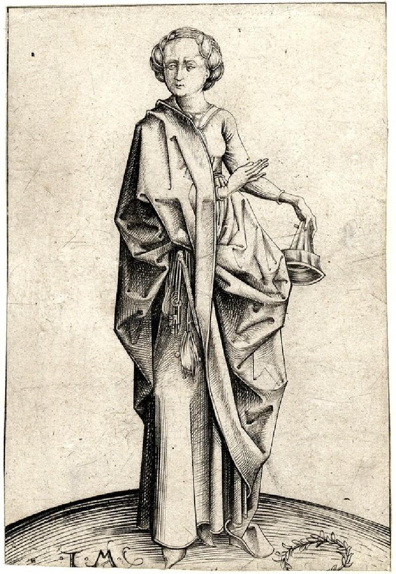 The fourth foolish Virgin, copy in reverse (WA1863.2059, record shot)