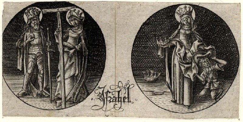 Charlemagne and St Helen as well as St Elisabeth, from the Designs for Goldsmiths