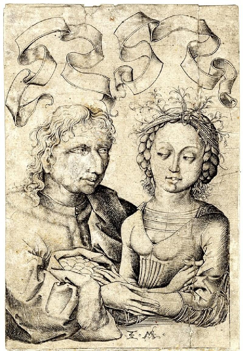 The ill-matched couple (WA1863.2068, record shot)