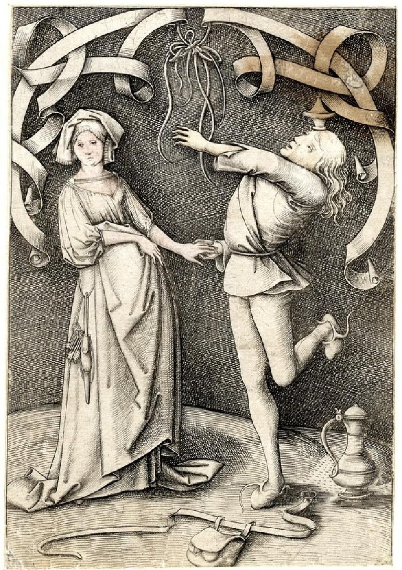 The Juggler and the woman (WA1863.2078, record shot)