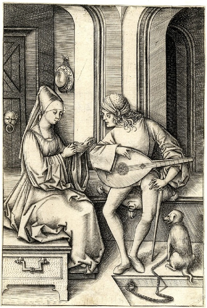The lute player and the singer (WA1863.2081, record shot)