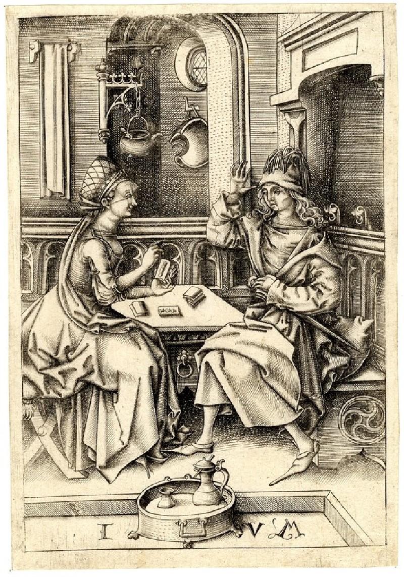 Couple playing cards (WA1863.2085, record shot)