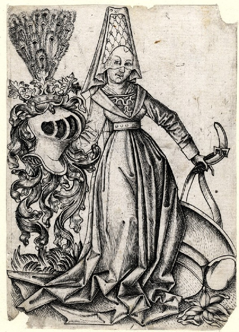 Lady with the coat of arms of Austria, copy