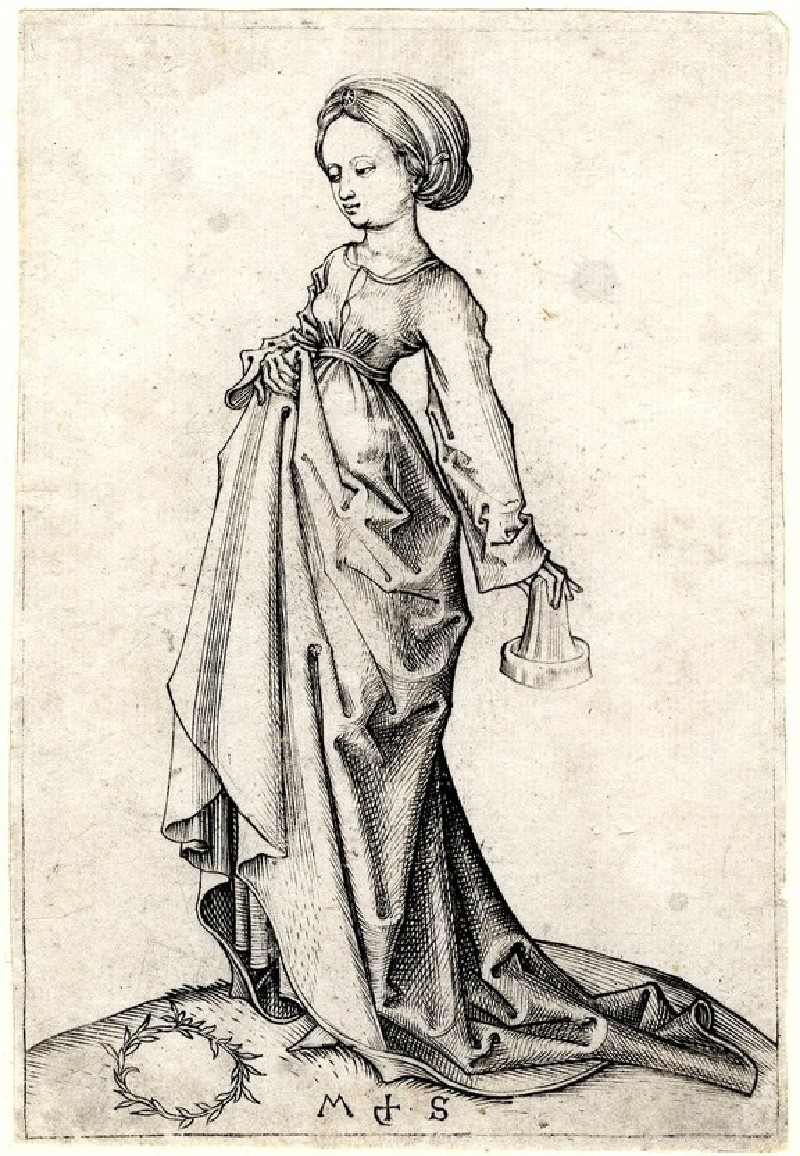 The second foolish Virgin (WA1863.2181, record shot)