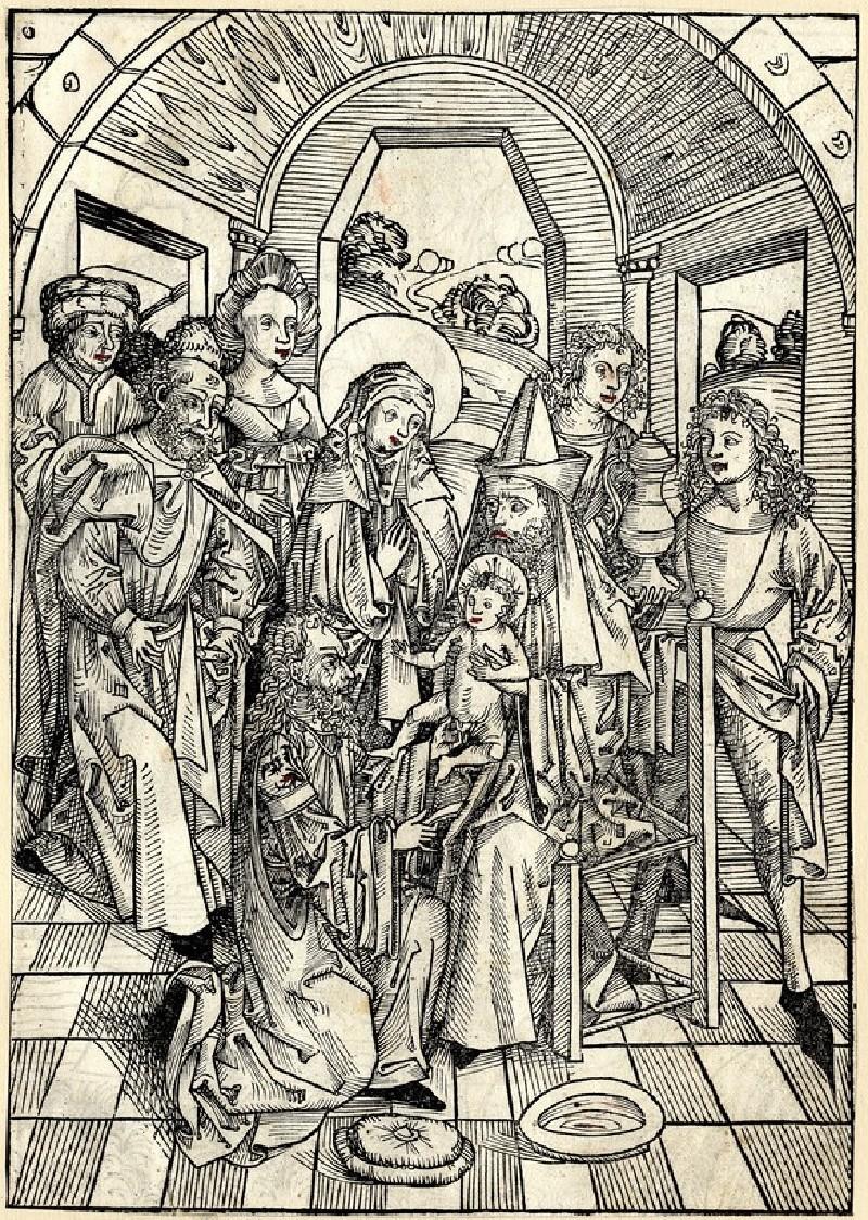 Recto: The circumcision<br />Verso: The Baptism of Christ (WA1863.2228, record shot)