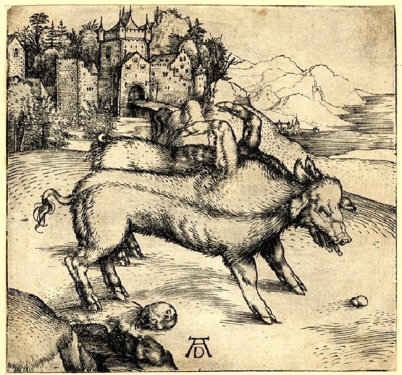 The monstrous pig of Landser (WA1863.2281, record shot)