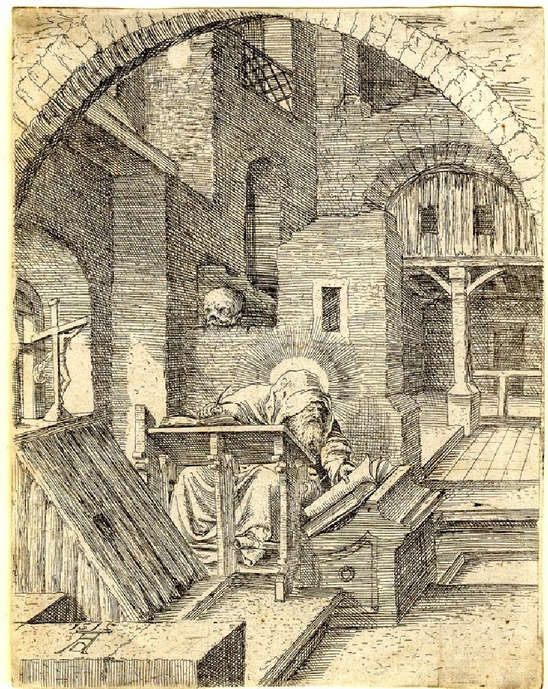 St Jerome in his study, free copy