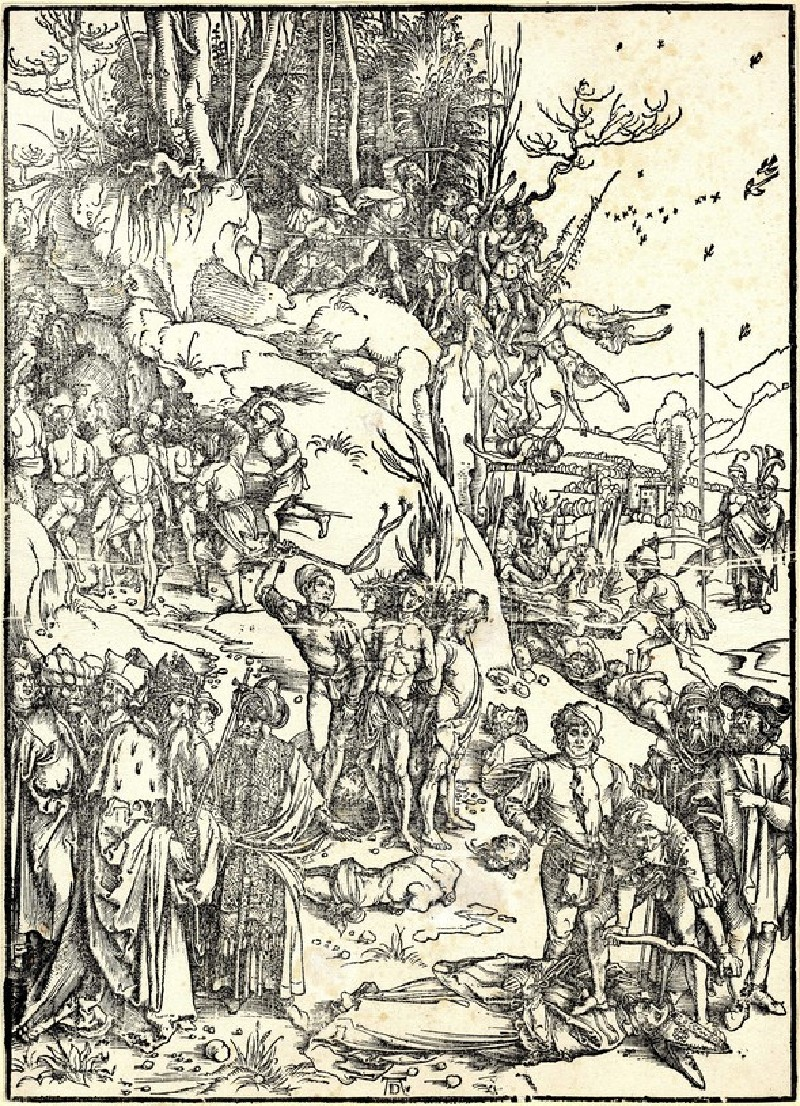 The martyrdom of the ten thousand (WA1863.2389, record shot)