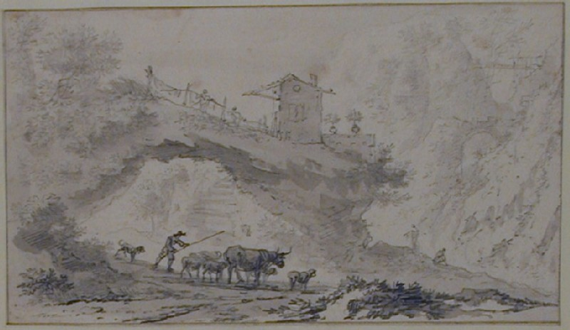 Landscape with Cattle (WA1863.241, record shot)