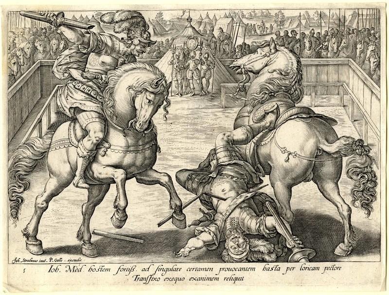 Giovanni de' Medici in a duel (WA1863.2855, record shot)