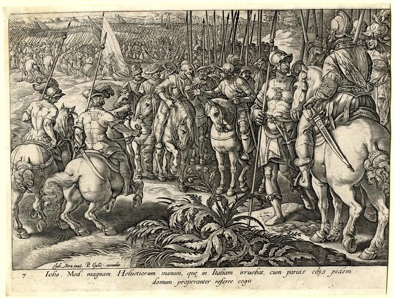 Giovanni de' Medici sends back the Swiss mercenaries (WA1863.2857, record shot)