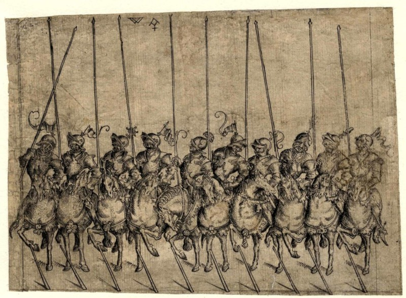 Detachment of ten cavalrymen