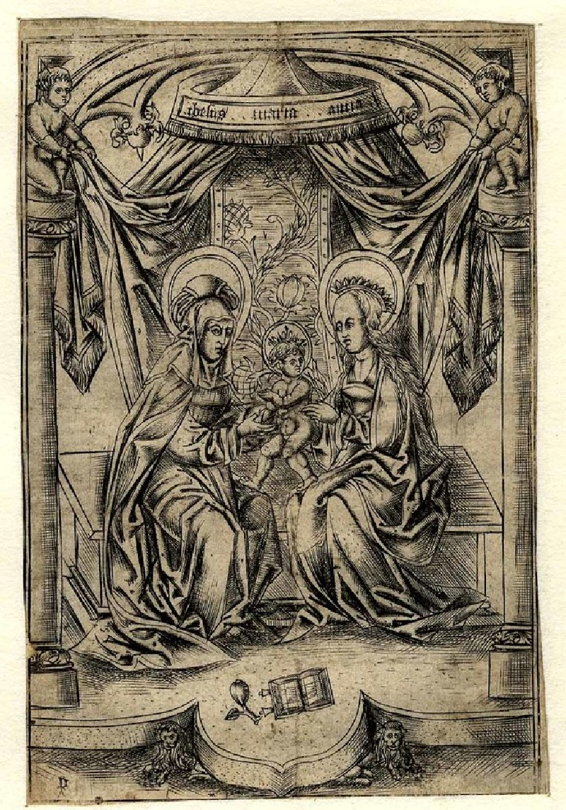 The Virgin with the Child and St Anna under a Canopy (WA1863.2928, record shot)