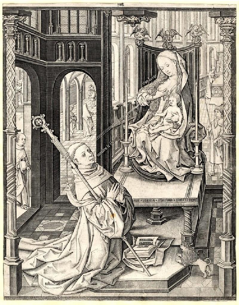 The vision of St Bernhard (WA1863.2946, record shot)