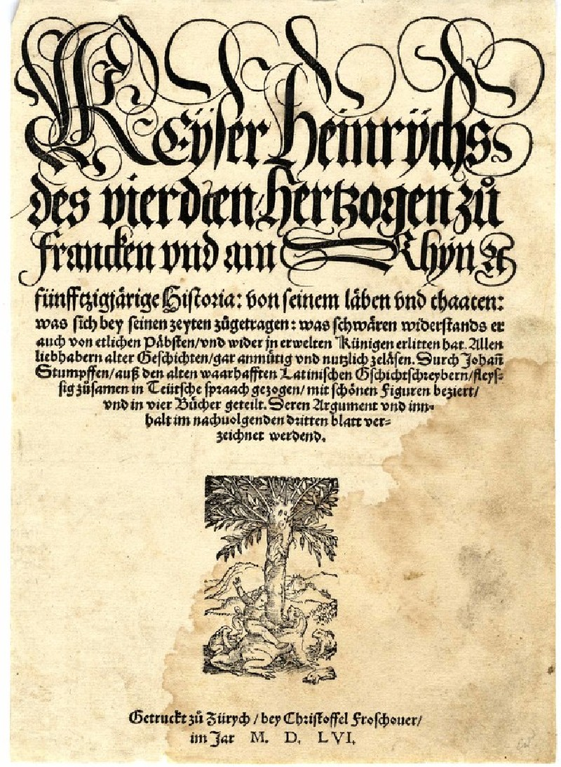 Title-page with the printer's mark of Christoph Froschauer (WA1863.3002, record shot)