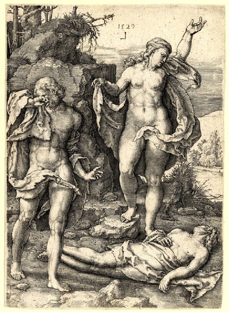 Adam and Eve lamenting the dead Abel