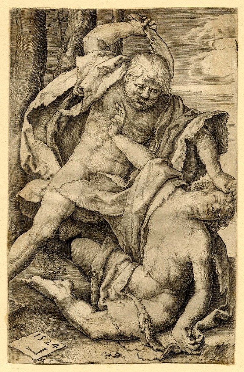 Cain killing Abel (WA1863.3449, record shot)