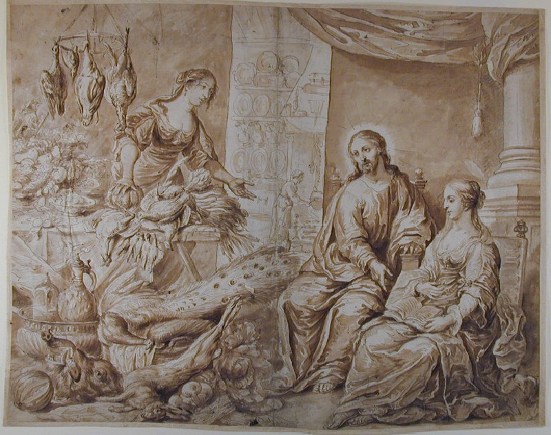 Christ in the House of Mary and Martha (WA1863.362, record shot)