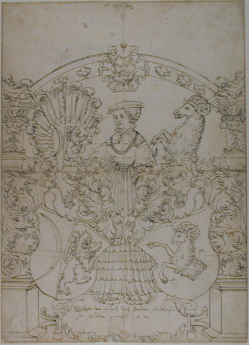 Design for a Panel of stained Glass