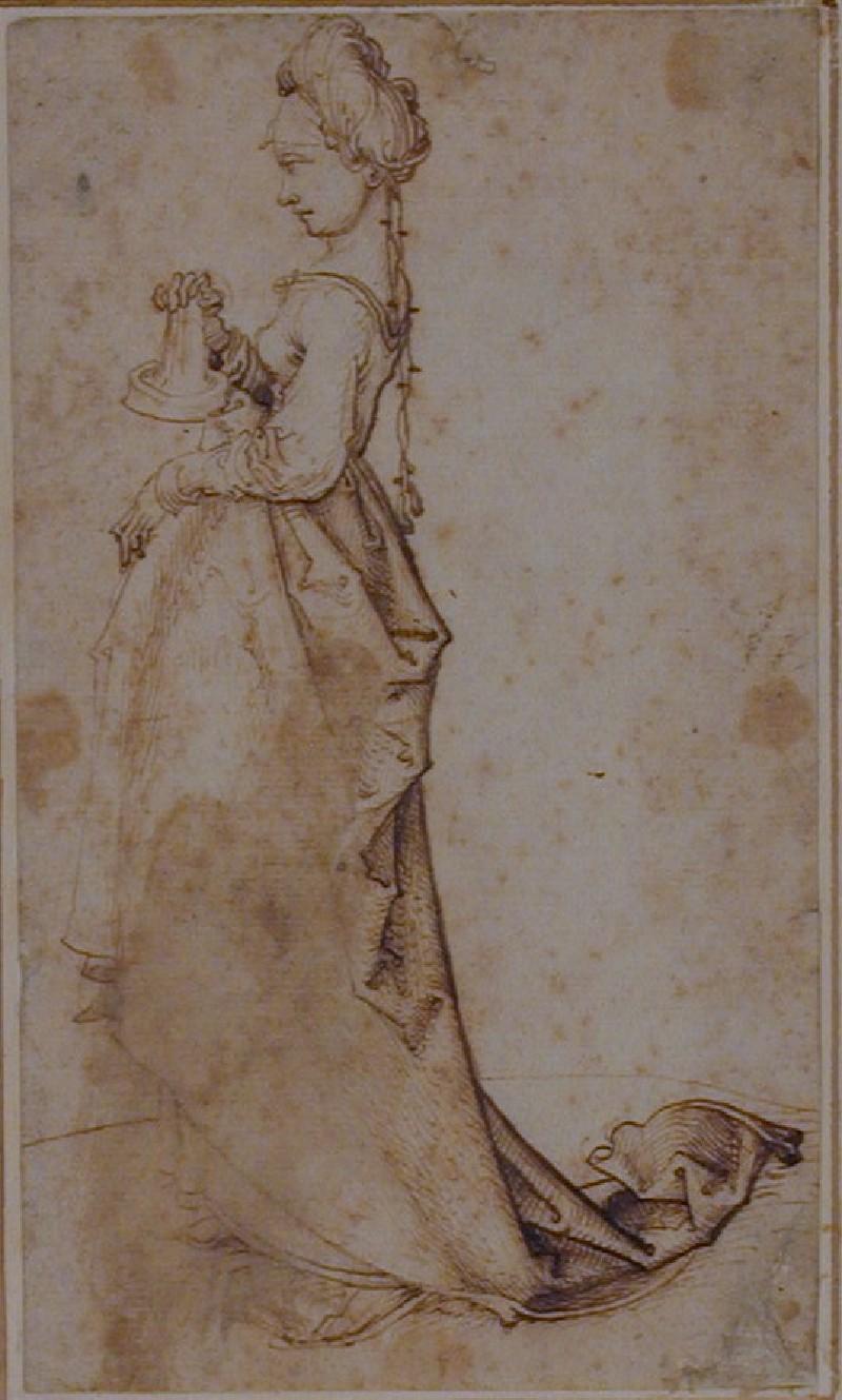 A foolish Virgin (WA1863.461, record shot)