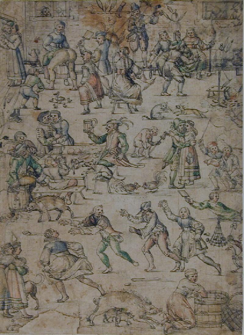 Peasants merrymaking