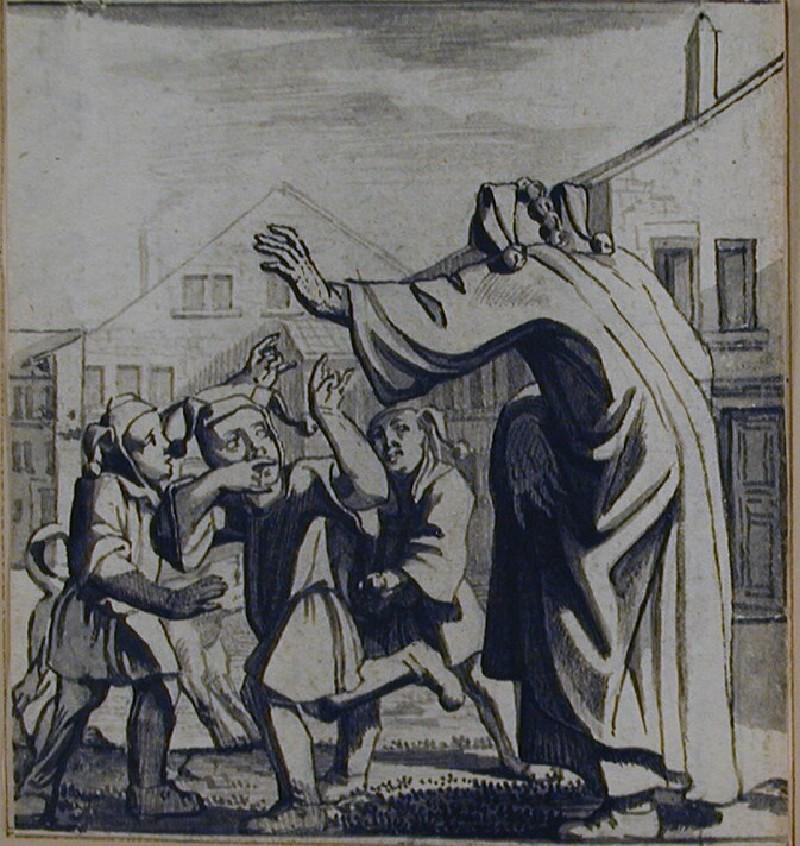 Der sich in Kinder-Händel mischende Narr (WA1863.548, record shot)
