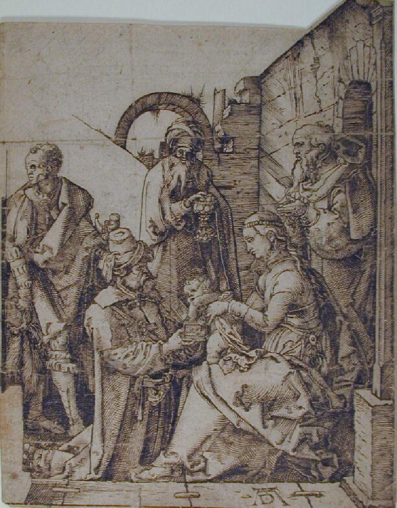 The Adoration of the Magi, drawing after woodcut