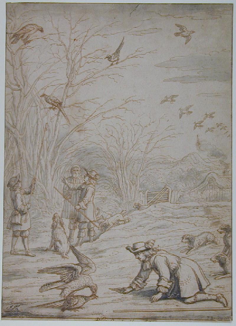 Hawking for Pheasants (WA1863.996, record shot)